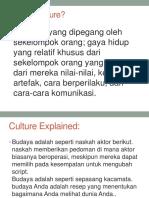 Culture, Subculture, Etnocentrsm