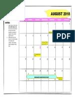 august news calendar