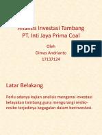 Analisis Investasi Tambang