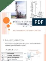 Diseño y Construcción de Destilador Con Platos
