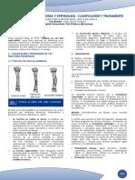 Capítulo Fracturas y Epifisiolisis. Clasificación y Tratamiento