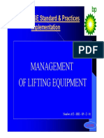 Management of Lifting Equipment