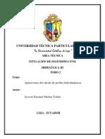 FORO 2 - Aplicaciones Del Cálculo de Perfiles Hidrodinámicos - JACSSON MEDINA