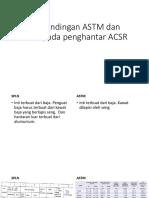 Perbandingan ASTM Dan SPLN Pada Penghantar ACSR