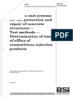 BS en 14117 (2004) Products and Systems for the Protection and Repair of Concrete Structures — Test Methods — Determination of Time of Efflux of Cementitious Injection Products