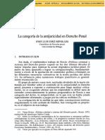 La categoria de la antijuricidad en Derecho Penal, Jose Luis Diez Ripolles.pdf