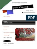 Order of Worship 10 03 2010 v1