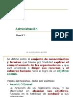 Clase N° 01 - Administración
