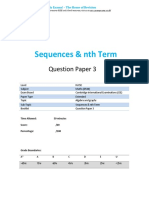 27.3 Sequences Nth Term -Cie Igcse Maths 0580-Ext Theory-qp
