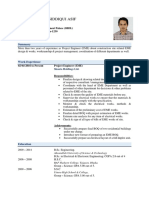 CV of Asif Siddiqui