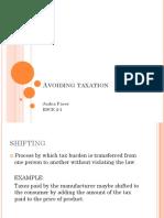Avoiding Taxation[1]