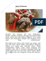 Singgang Daging Kelantan Sedap