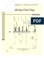 Grounding Design (Tolerable Step & Touch Voltages)