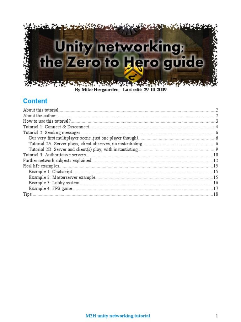 M2H Unity Networking Tutorial | Lag | Server (Computing)