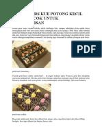 Materi Pastry Bakery
