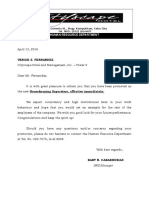 Letter of Promotion