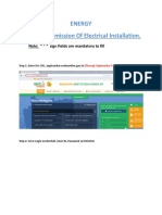 User Manual Charging Permission of Electrical Installation