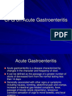 CPG on Acute Gastroenteritis