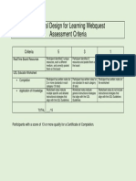 webquest assessment criteria