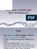 Chorale Literature and Techniques