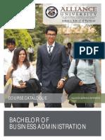 BBA Course Catalogue July 2015