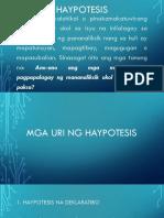 haypotesis