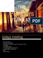 The Planners Template Powerpoint