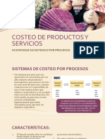 Costeo de Productos y Servicios