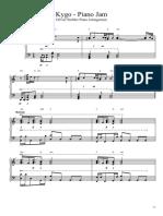Kygo - Piano Jam (OS Piano Sheet Music)