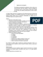 Objetivos de La Investigación (Redaccion)