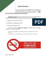 Regula Fumatului