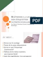 Maitriser La Lecture Des Etiquettes Nutritionnelles
