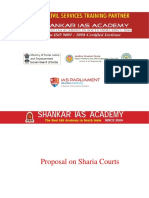 Proposal on Sharia Courts Current Affairs 16-07-2018