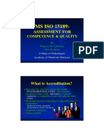 ISO 15189-Quality and Competence by Prof Looi LM 04062009