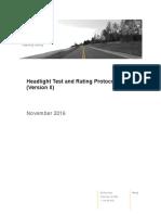 Headlight Test Rating Protocol