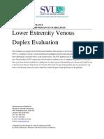 Lower Extremity Venous Duplex US
