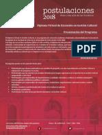 Diploma Virtual de Extension en Gestion Cultural