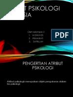 Atribut psikologi manusia