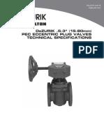 Dezurik Eccentric Plug Valves Pec Pef 12 3 Pec Eccentric Plug Valves Technical 12-00-1b
