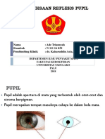 Pemeriksaan Refleks Pupil