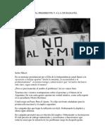 Carta Abierta Al Presidente y a La Ciudadanía Argentina