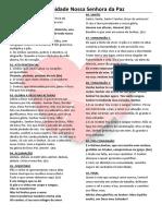 Folheto Missa 14 Domingo Comum 2018 - NSPaz