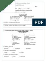 1° ANO - QTD 31 - AVALIAÇÃO DE MÚSICA