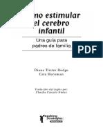 Libro Como Estimular El Cerebro Infantil