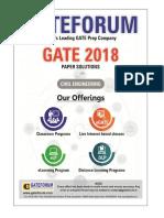 Gateforum CE GATE-2018 Paper-I