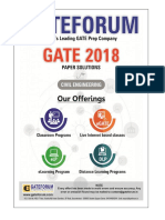 Gateforum CE GATE-2018 Paper-I