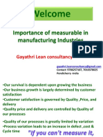 Importance of Measurables in Manufacturing