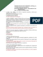 10ª Lista de Exercícios de Direito Civil II