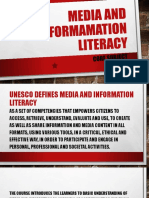 Media and Informamation Literacy