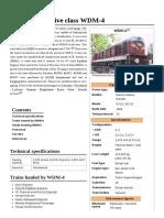 Indian Locomotive Class WDM-4